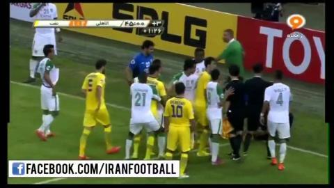 Iranian and Saudi Arabian Players have a scuffle in the Al-Ahli vs Naft Tehran Match!