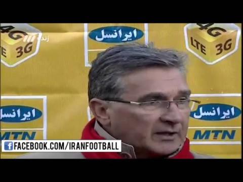 صحبت های گل محمدی و برانکو بعد از بازی ذوب آهن - پرسپولیس