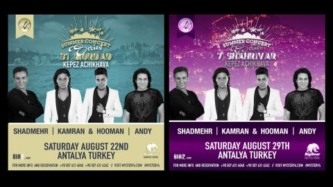Mystery4's Summer Concert Series 2015 (Aug 22nd & Aug 29th in Antalya, Turkey)