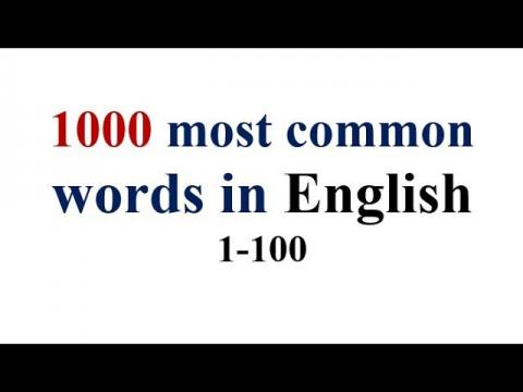 1000 most common words in English- 1~100 with pronunciation