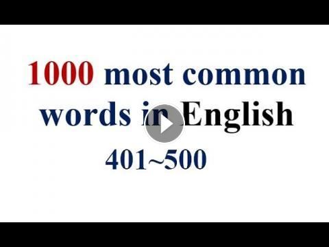 1000 most common words in English- 401~500 with pronunciation