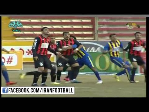Siah Jamegan vs Gostaresh Foolad Highlights - 2015/16 Iran Pro League - Week 19